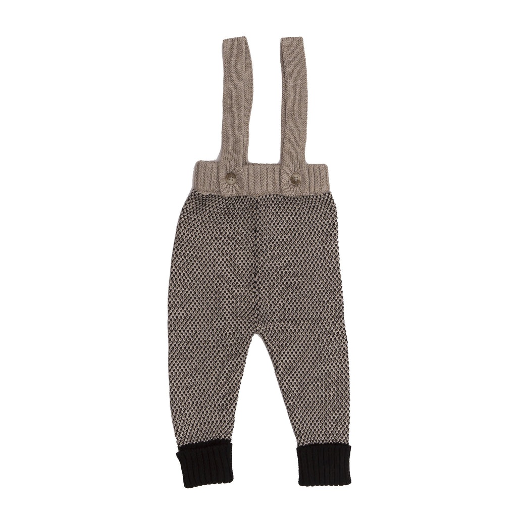 Romper With Straps - Khaki Black-Tun Tun-Joanna's Cuties