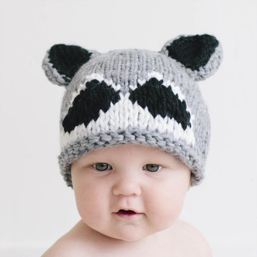 Roscoe Raccoon Knit Hat-The Blueberry Hill-Joanna's Cuties