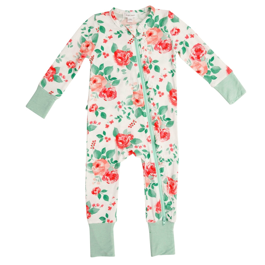 Rose Garden Zipper Romper