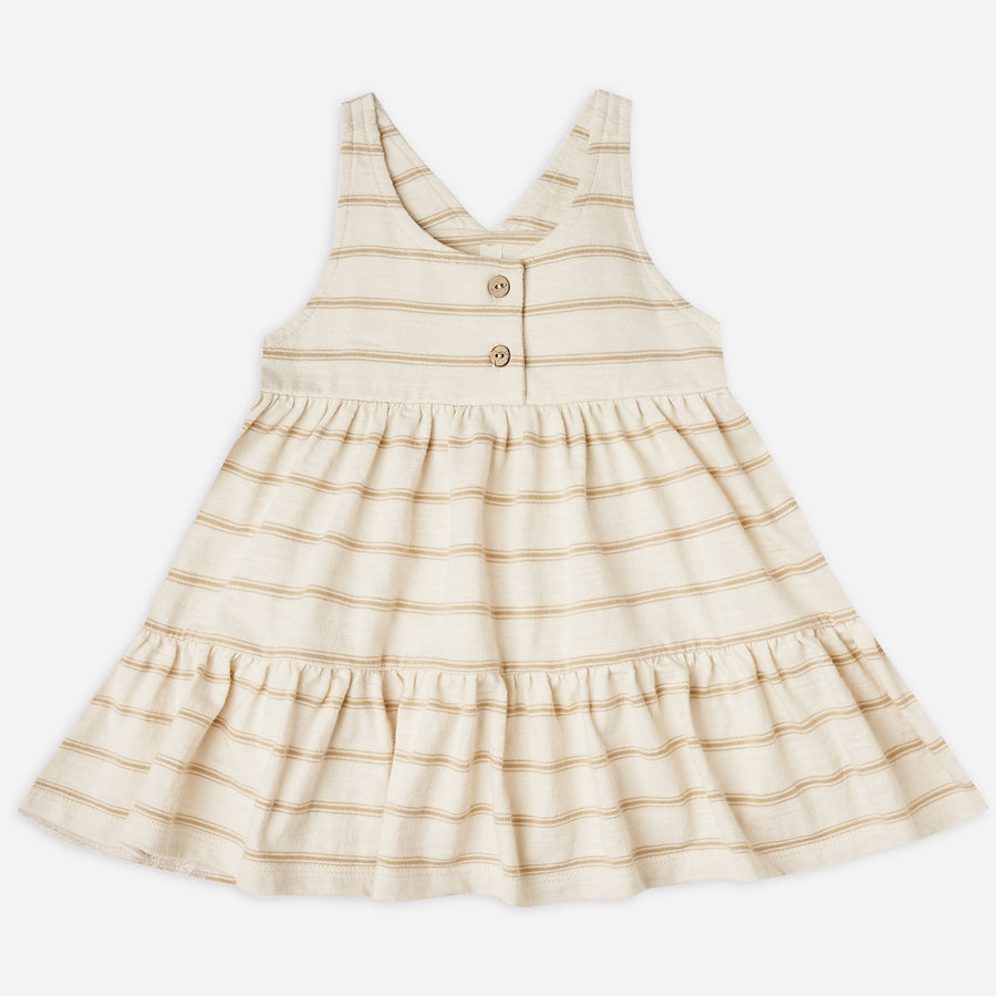 Ruby Swing Dress - Almond Stripe-Rylee + Cru-Joanna's Cuties