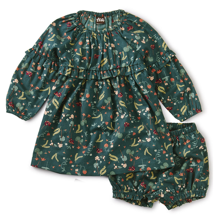 Ruffle Baby Dress - Strawberry Field-Tea-Joanna's Cuties
