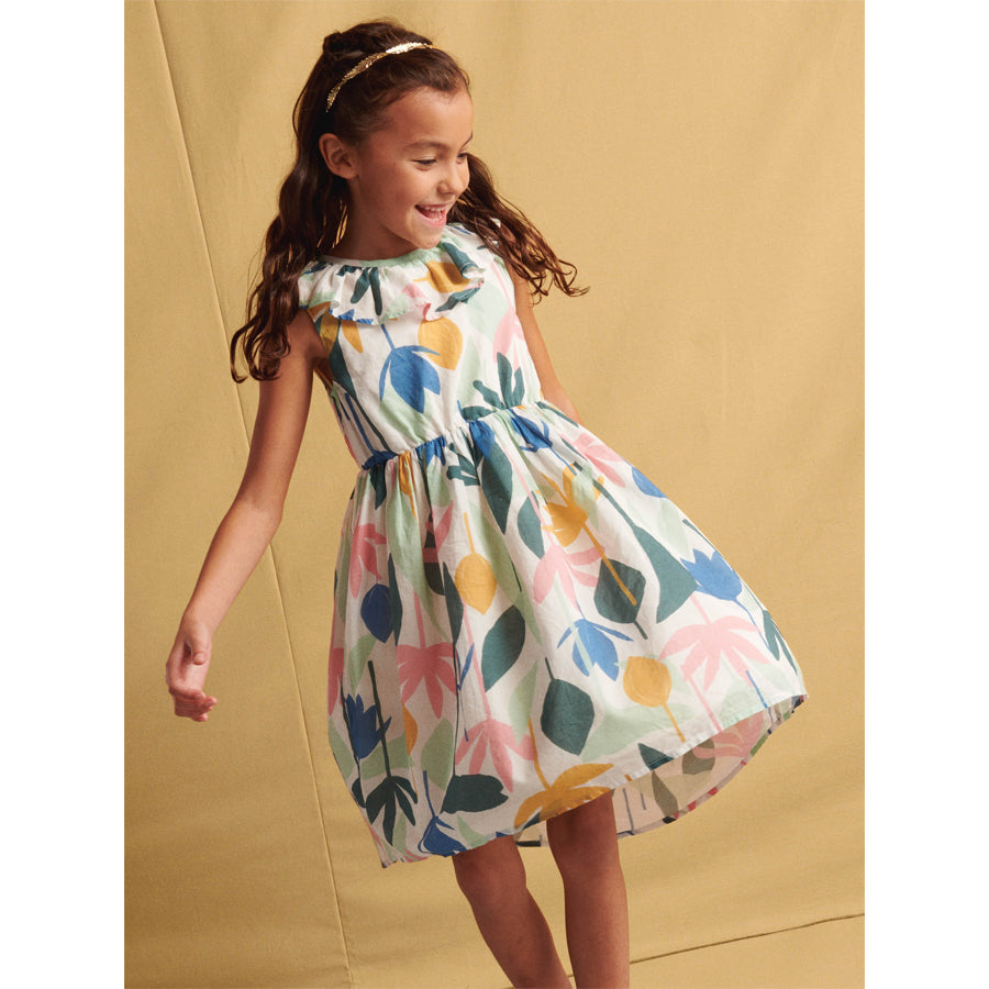 Ruffle Hi-Lo Dress - Egyptian Floral-Tea-Joanna's Cuties