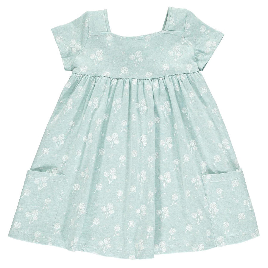 Rylie Dress Aqua Dandelion