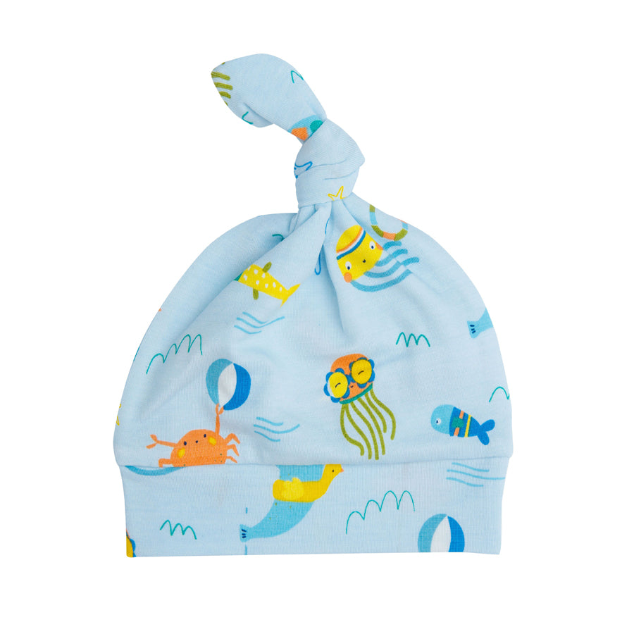 Sea Creatures Knotted Hat