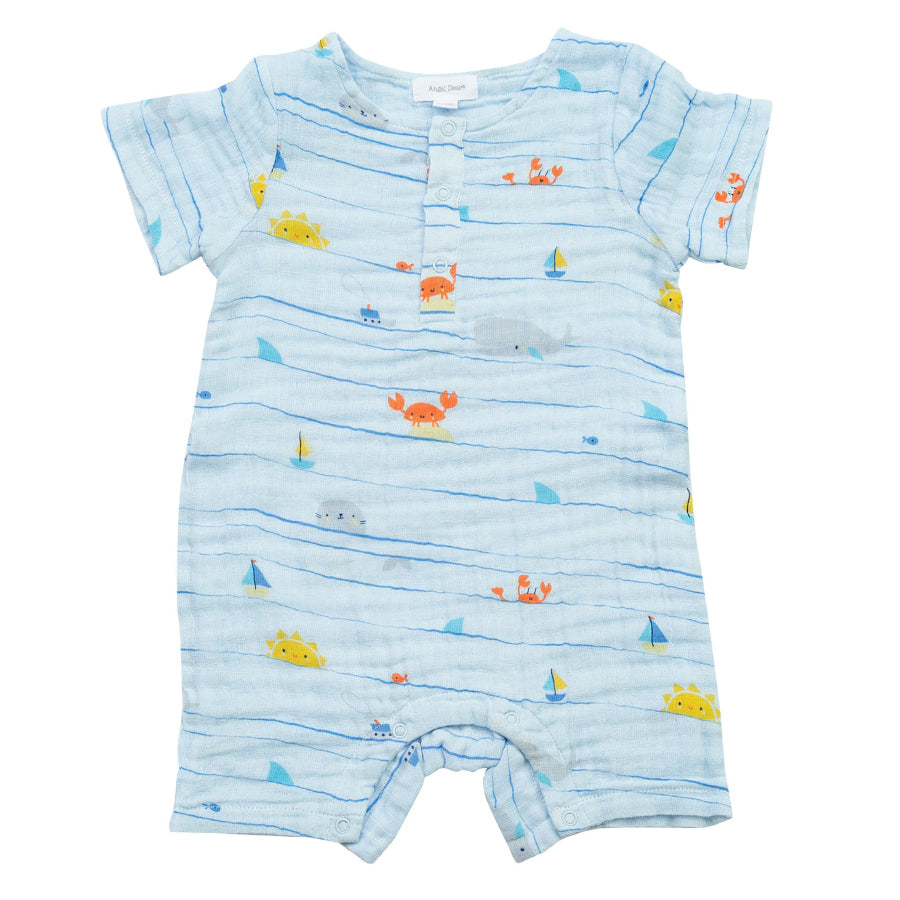 Sea Stripes Henley Shortall-Angel Dear-Joanna's Cuties
