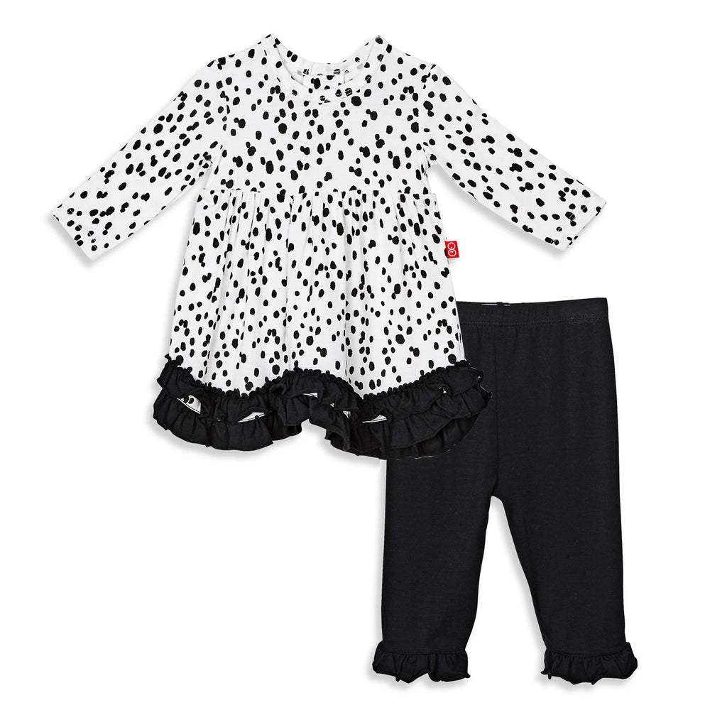 Seeing Spots Modal Magnetic Dress Set With Pants - Magnetic Me - joannas-cuties
