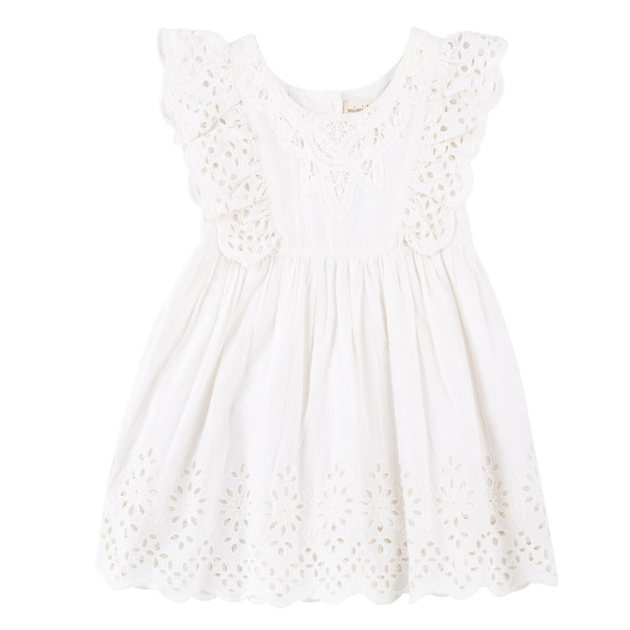 Sela Ruffle Sleeve Eyelet Dress - Mimi & Maggie - joannas-cuties