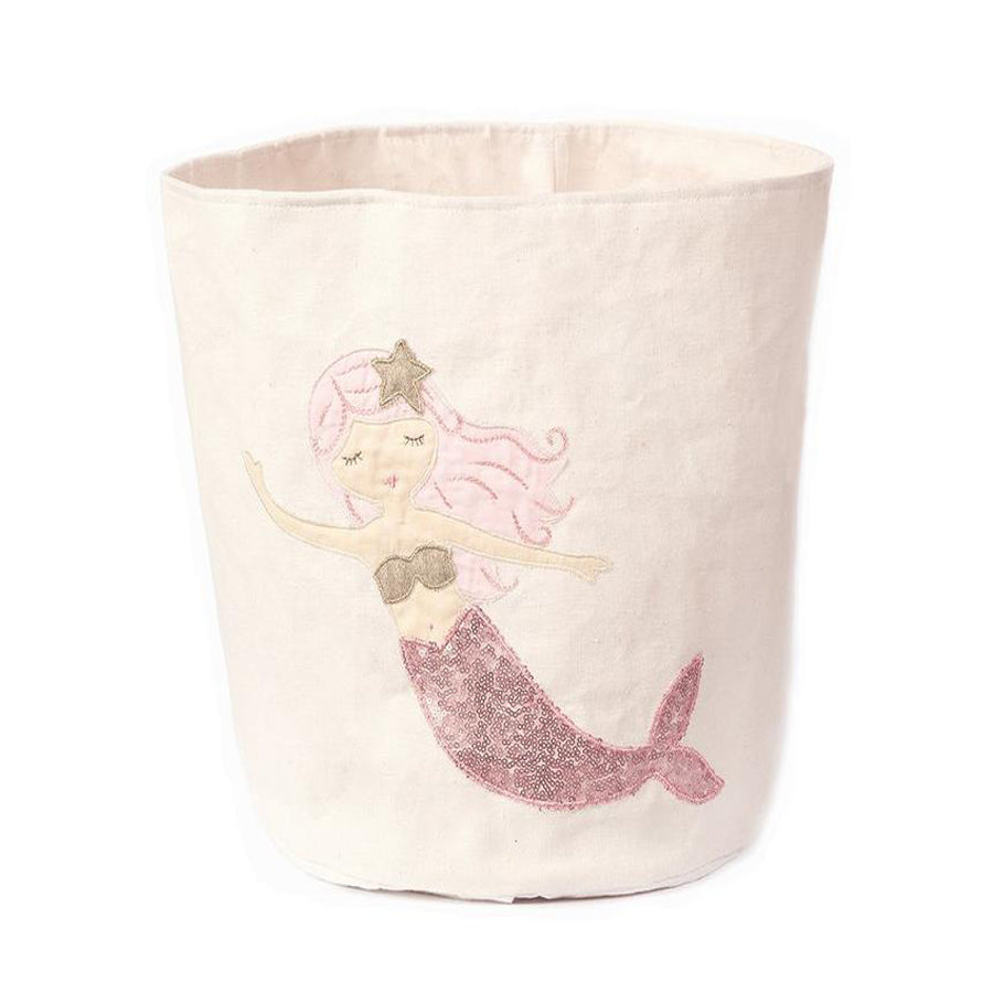 sequin mermaid large canvas storage bin-Mon Ami-Joanna's Cuties