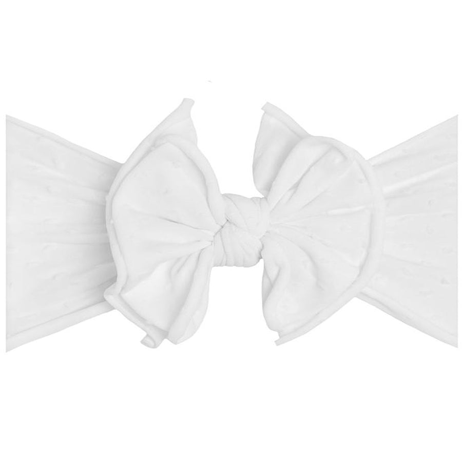 Shab Bow Lous Headband - White Dots-Baby Bling-Joanna's Cuties