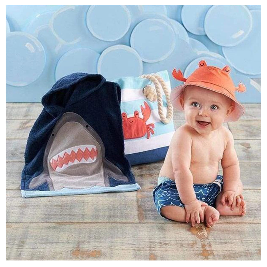Shark 4-Piece Beach Gift Set with Canvas Tote for Mom-Baby Aspen-Joanna's Cuties