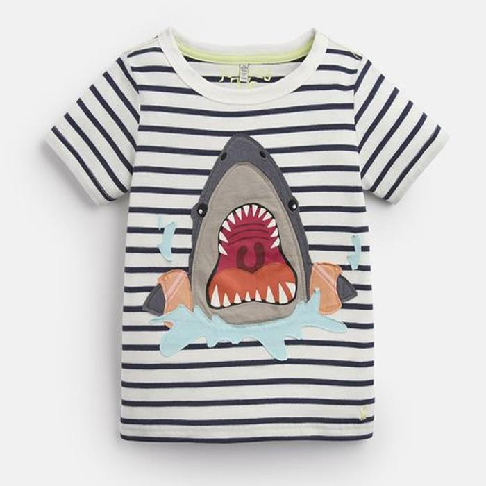 Shark Applique T-Shirt - Joules - joannas-cuties