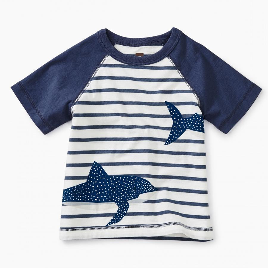 Shark Raglan Baby Graphic Tee - Tea - joannas-cuties