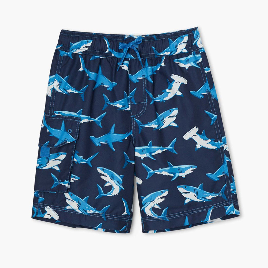 Dee-Sea Sharks Swim Trunks-Hatley-Joanna's Cuties