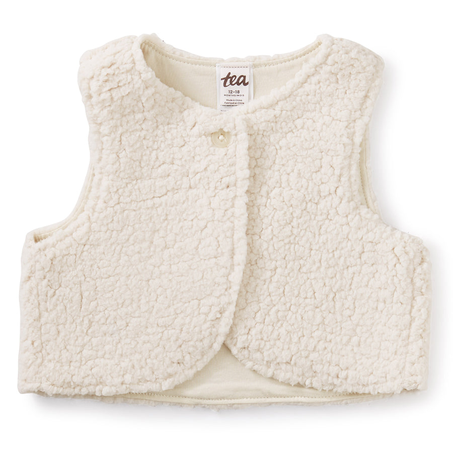 Sherpa Baby Vest - Birch-Tea-Joanna's Cuties