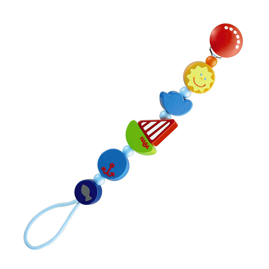 Ship Ahoy Pacifier Chain-Haba-Joanna's Cuties