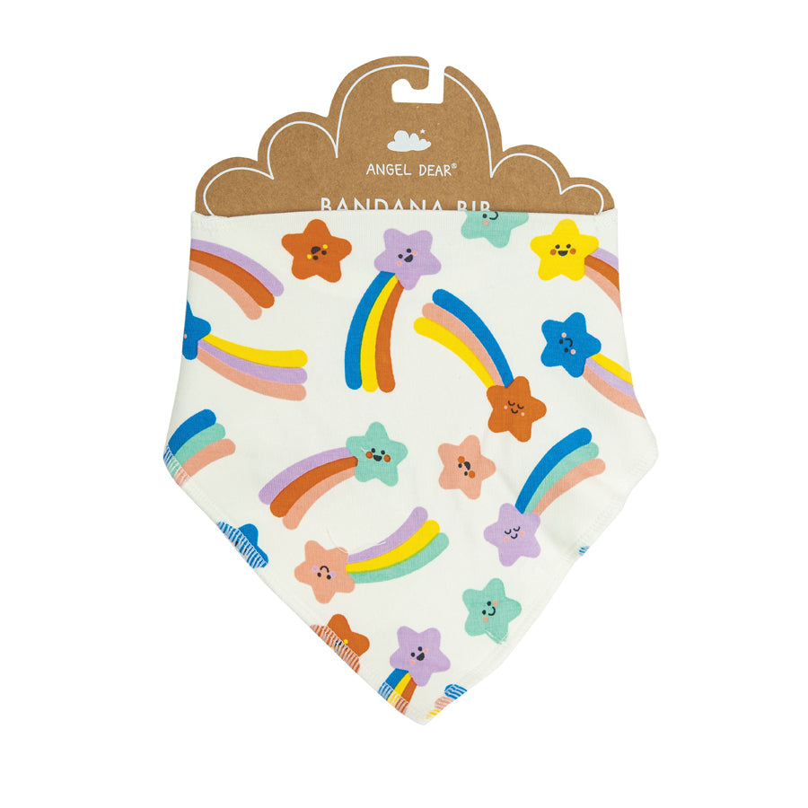Shooting Stars Bandana Bib - Pink-Angel Dear-Joanna's Cuties