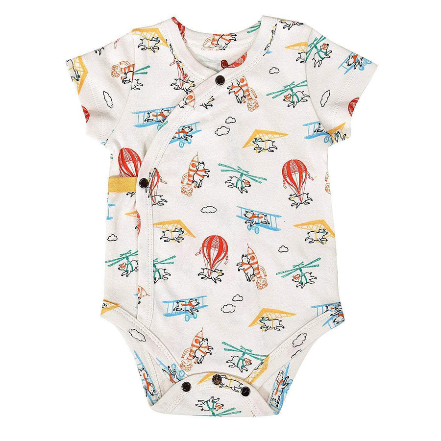 Short Bodysuit - Flying Pigs-Finn + Emma-Joanna's Cuties