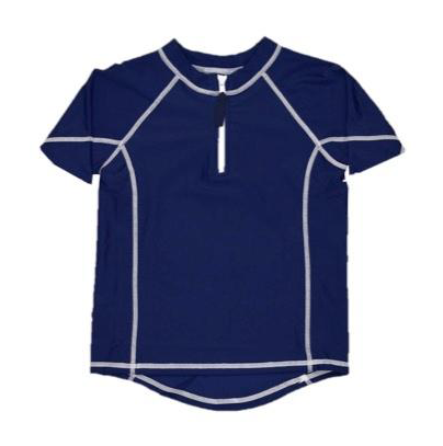 Short Sleeve Rash Guard Navy Style, Toobydoo - Joanna's Cuties