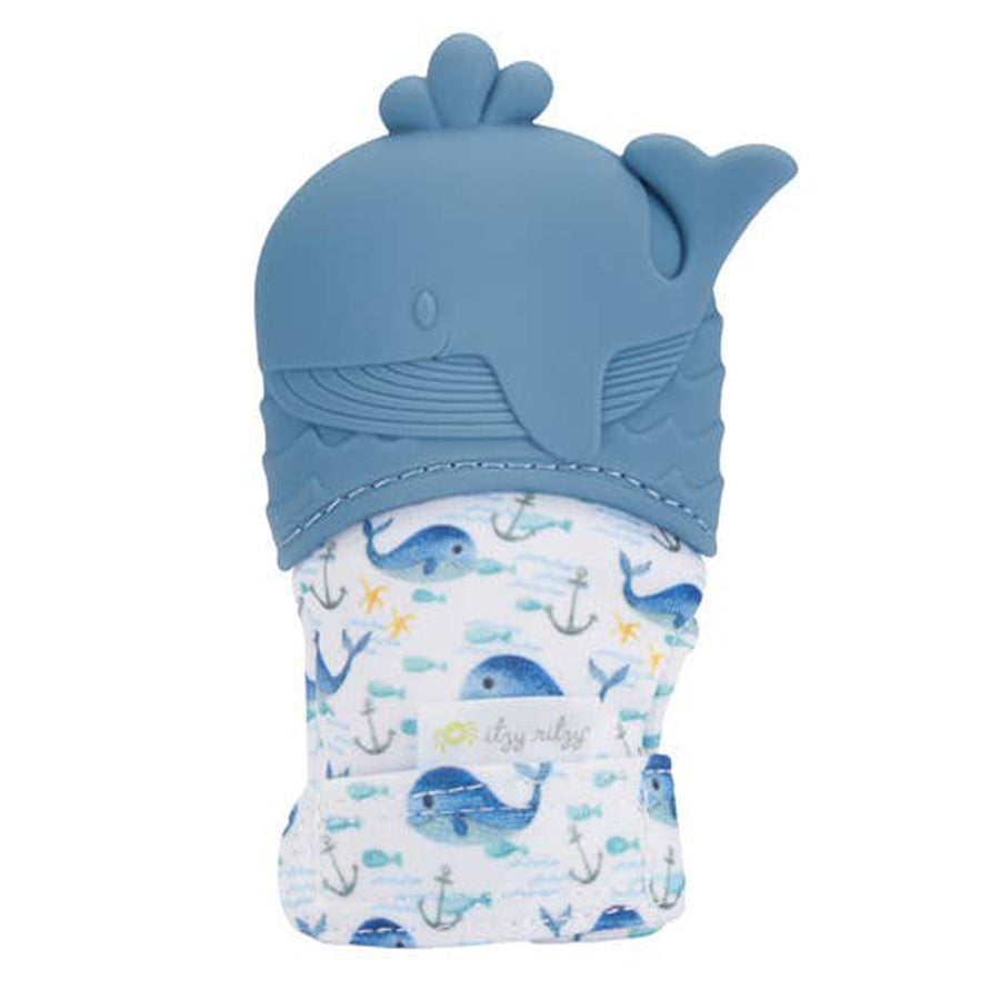 Silicone Teething Mitt - Whale-Itzy Ritzy-Joanna's Cuties