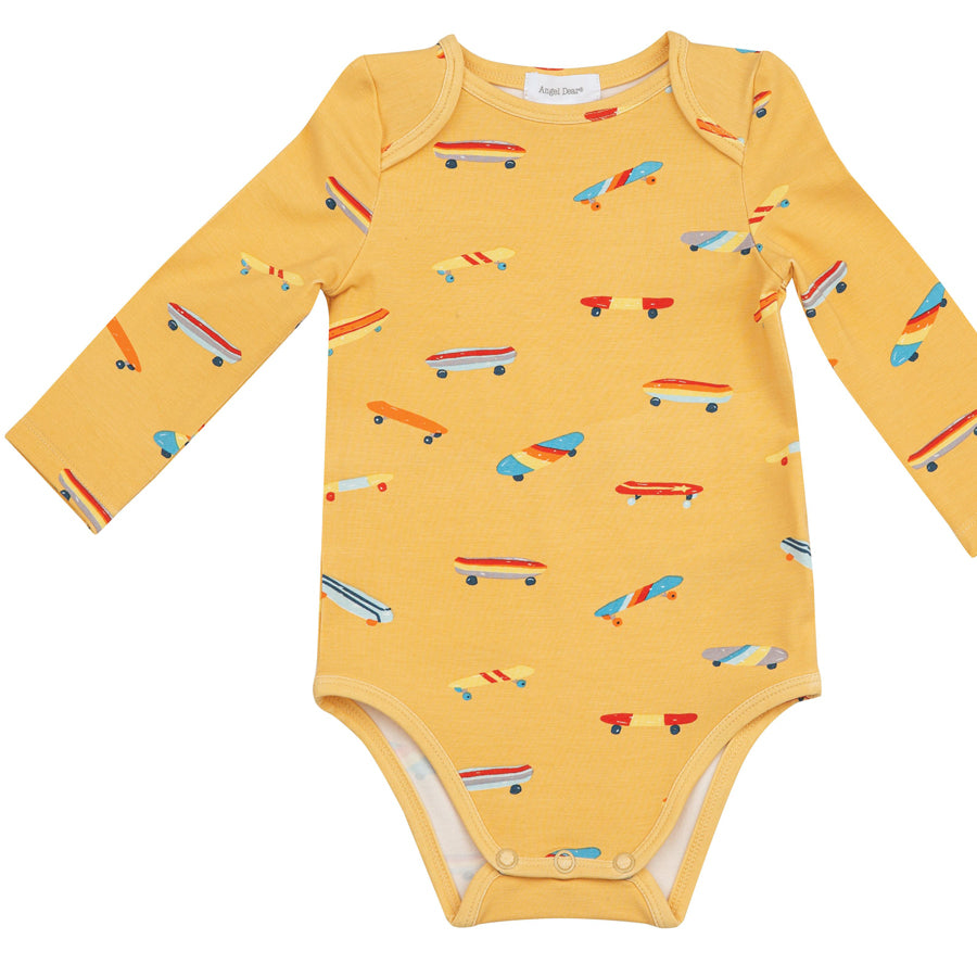 Skateboard Lap Shoulder Onsie-Angel Dear-Joanna's Cuties
