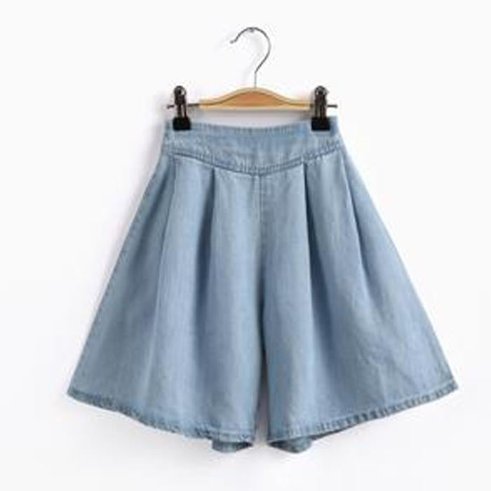 Skirt Style Denim Shorts - Aimama - joannas-cuties