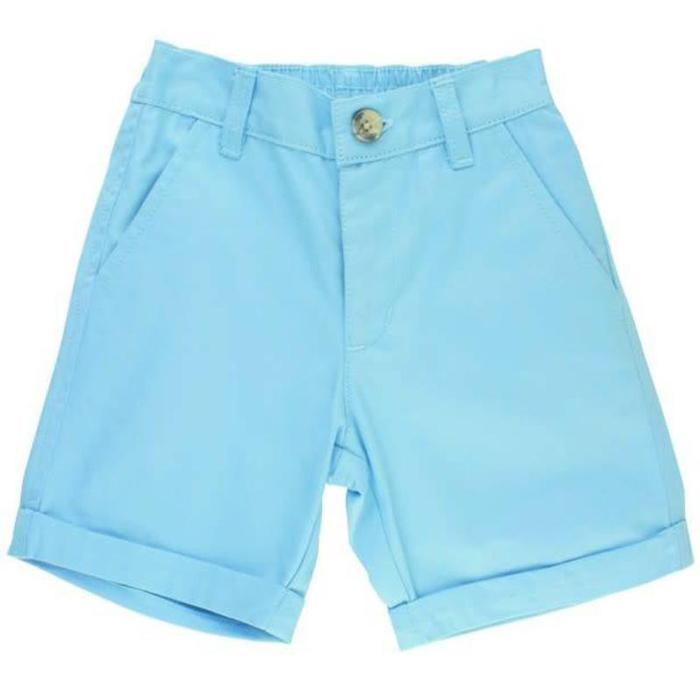 Sky Blue Cuffed Chino Shorts-Rugged Butts-joannas_cuties