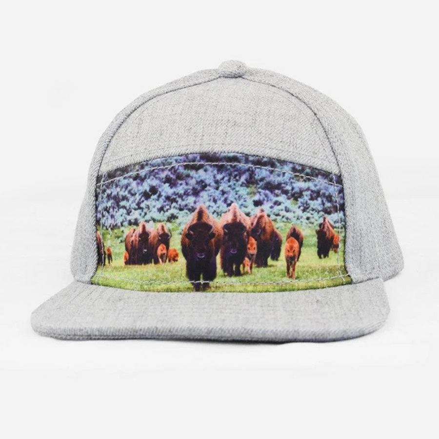 Snapback Bison Hat-The Blueberry Hill-Joanna's Cuties