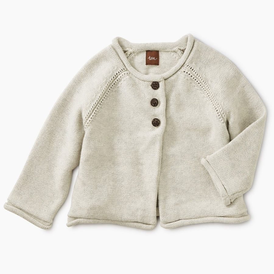 Solid Sweater Cardigan - Tea - joannas-cuties