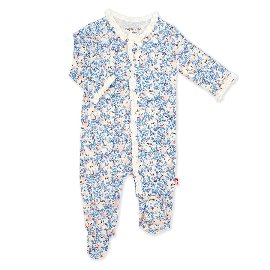 Somebunny Floral Modal Magnetic Footie
