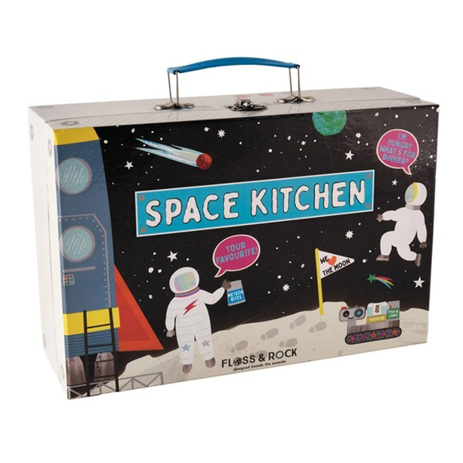 Space Tin Kitchen Set in Rectangular Case-Floss & Rock-Joanna's Cuties