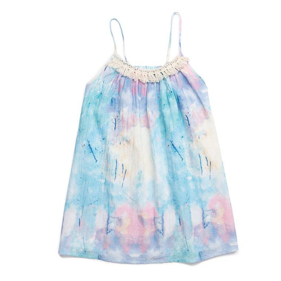Splatter Print Tye Dye Ingrid Dress-EGG by Susan Lazar-Joanna's Cuties