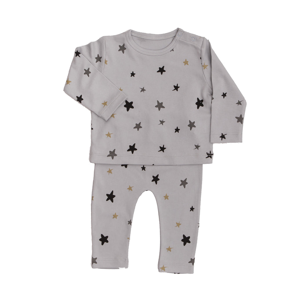 Stars 2 Pc Set - Grey - Tun Tun - joannas-cuties