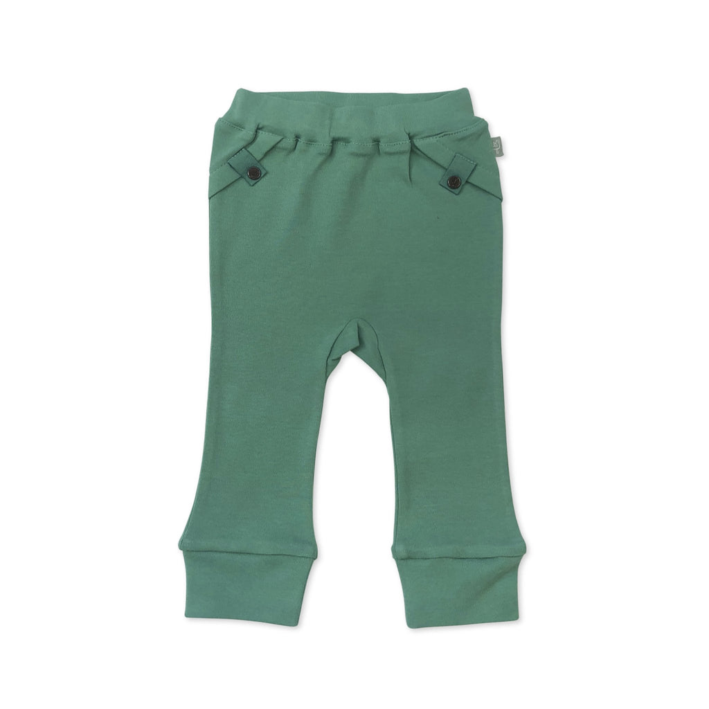 Straight Leg Pants- Green - Finn + Emma - joannas-cuties