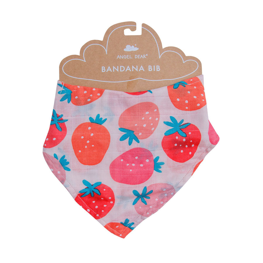 Strawberries Bandana Bib-Angel Dear-Joanna's Cuties