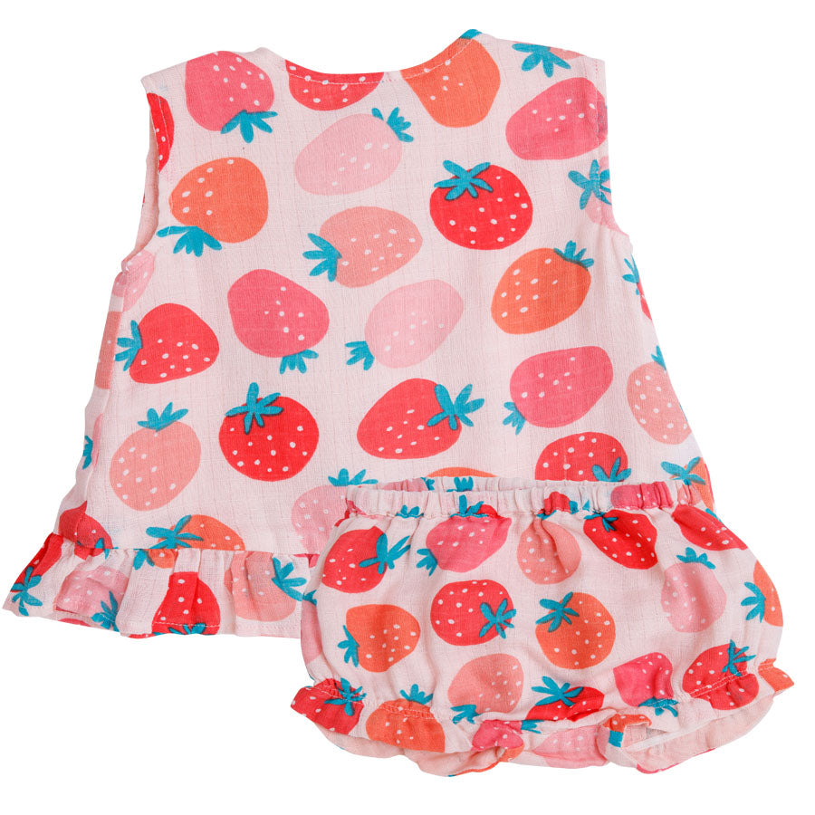 Strawberries Ruffle Top and Bloomer-Angel Dear-Joanna's Cuties
