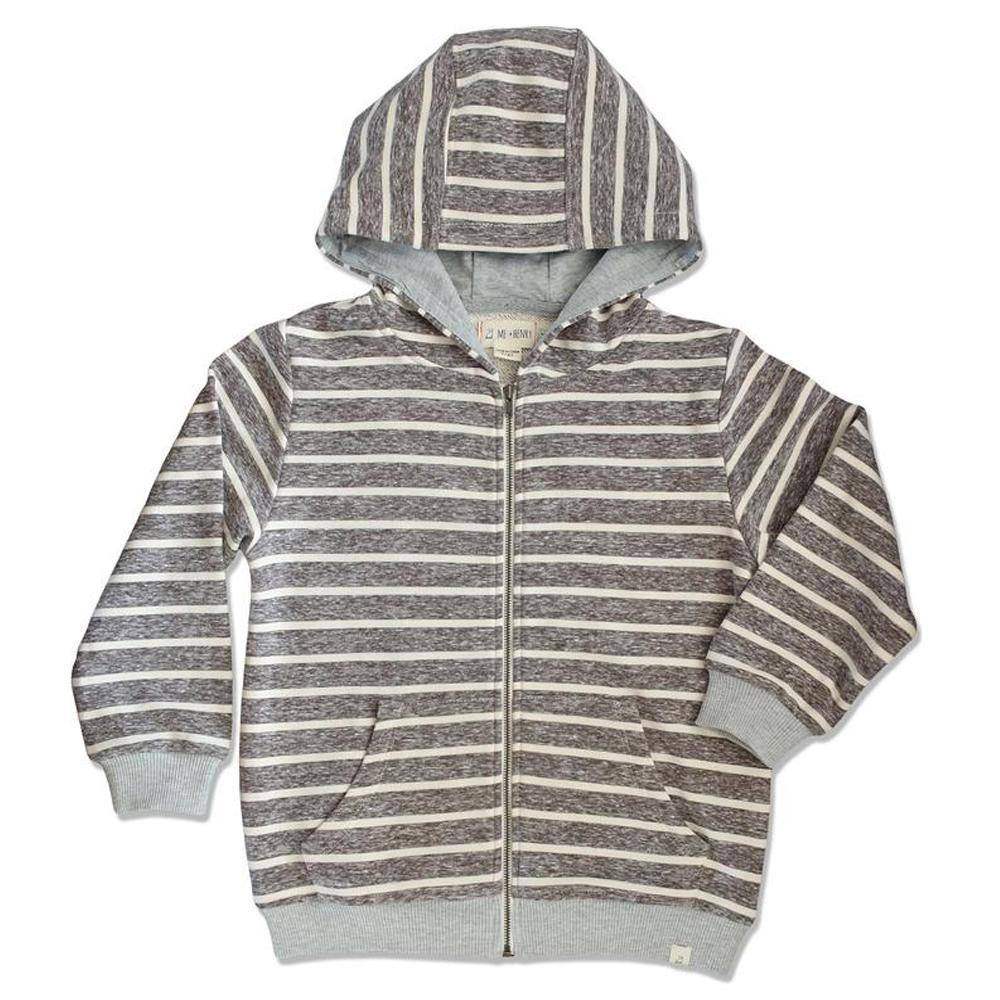 Striped Hooded Top - Beige - Me + Henry - joannas-cuties