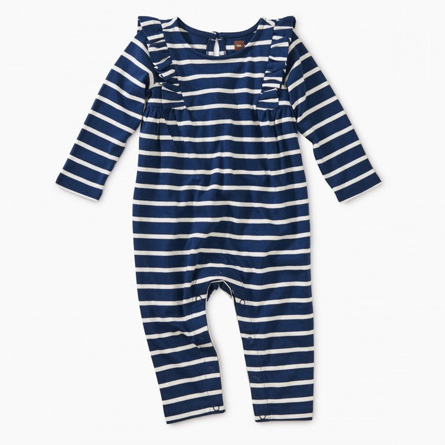Striped Ruffle Romper - Tea - joannas-cuties