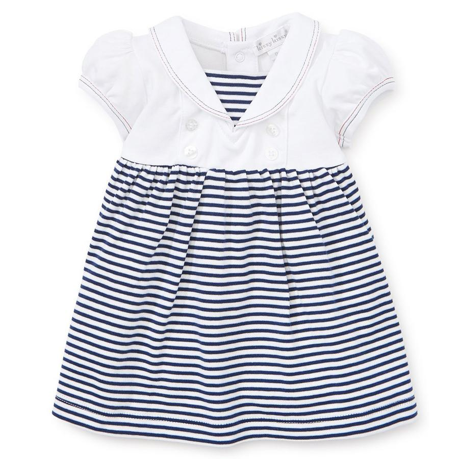 Summer Sails Stripe Dress Set-Kissy Kissy-Joanna's Cuties
