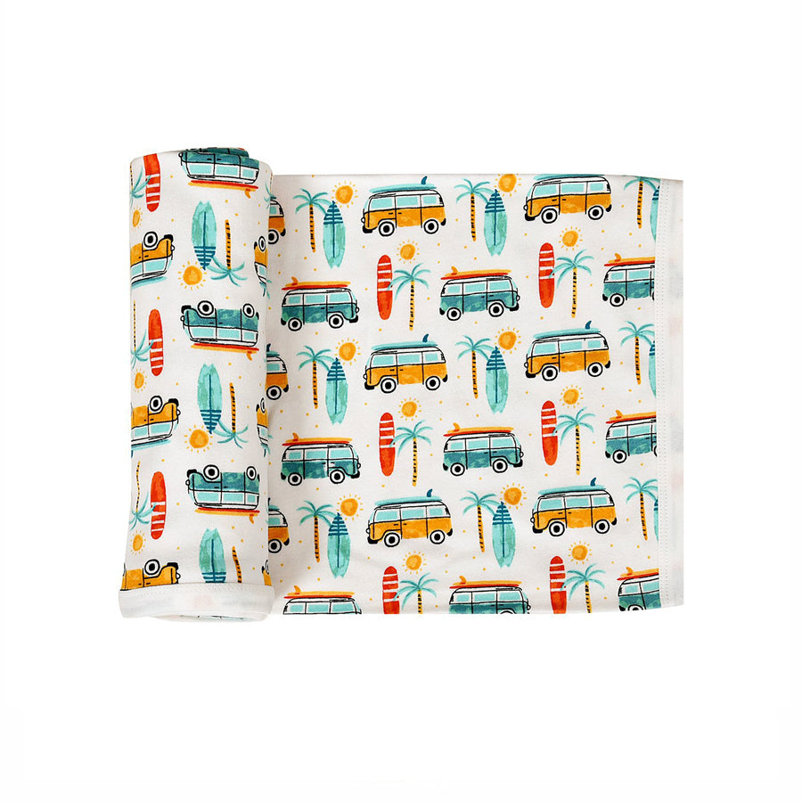 Summer Surf Swaddle Blanket