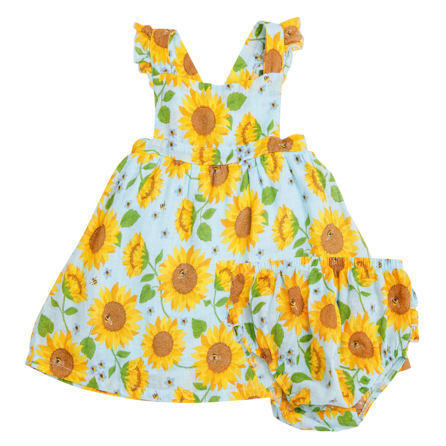 Sunflowers Pinafore Top And Bloomer