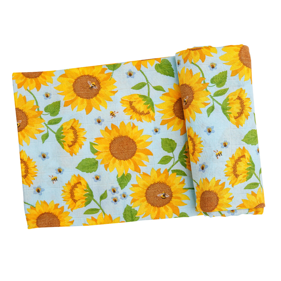 Sunflowers Swaddle Blanket