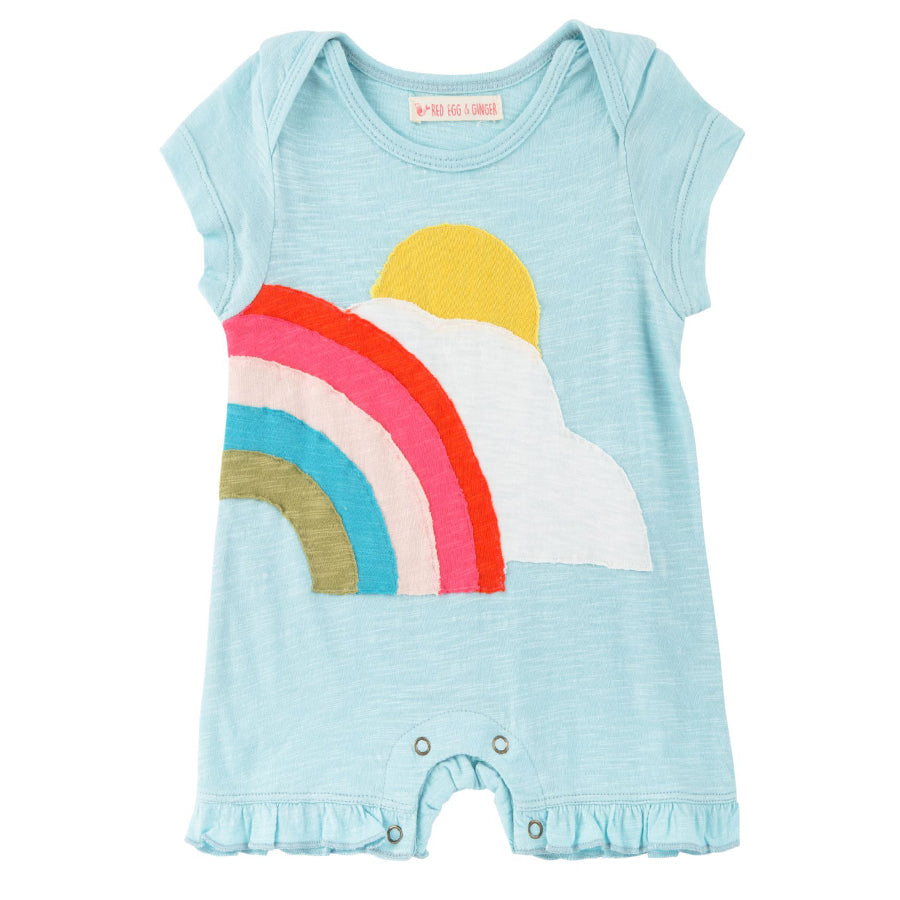 Sunshine Rainbow Romper - Red Egg & Ginger - joannas-cuties