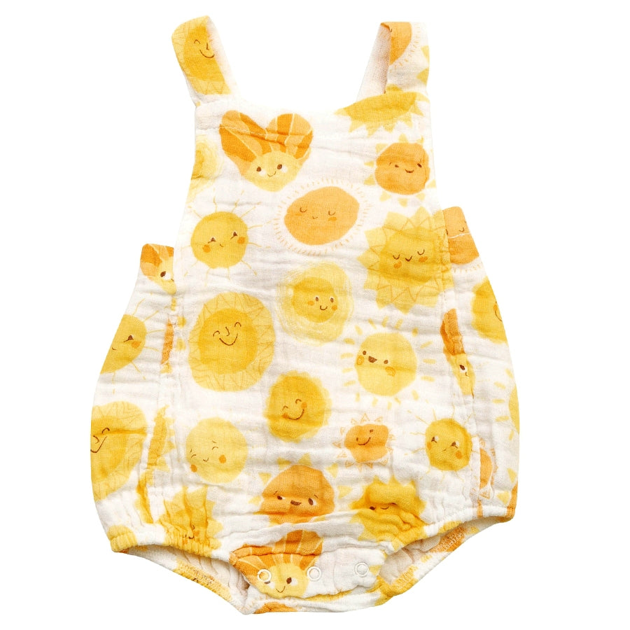 Sunshine Retro Muslin Sunsuit-Angel Dear-Joanna's Cuties