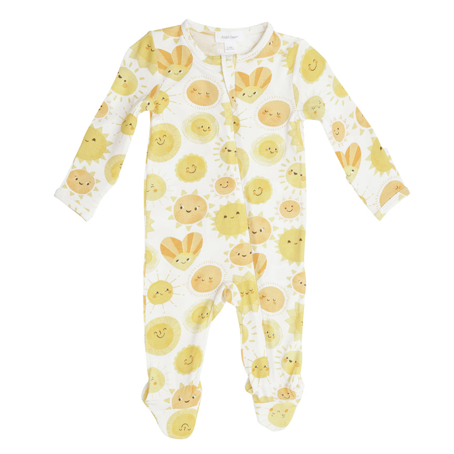 Sunshine Zipper Footie