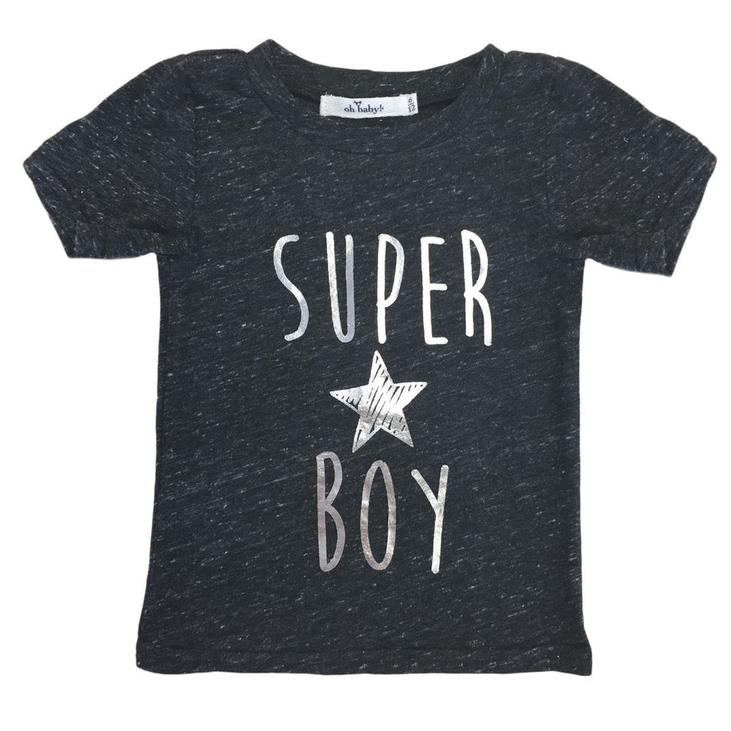 """Super Boy"" SF James Dean Tee - Oh Baby - joannas-cuties"