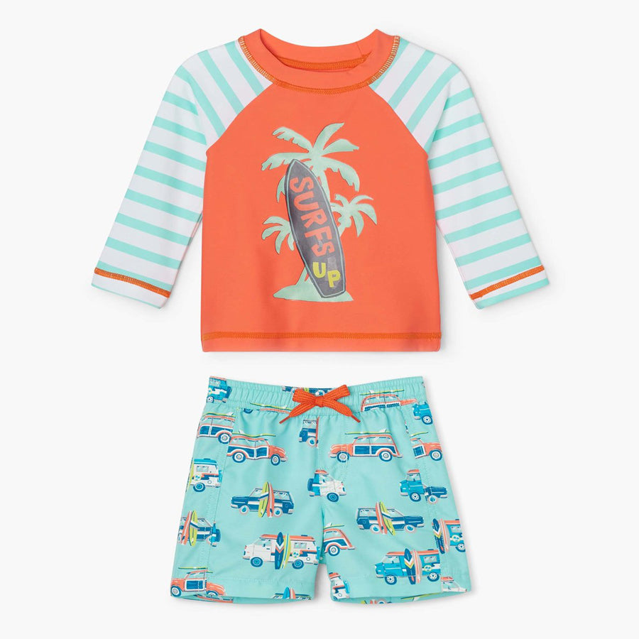 Surfs Up Baby Rashguard Set-Hatley-Joanna's Cuties