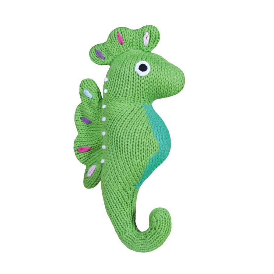 "Susie the Seahorse - 6"" Rattle, Zubels - Joanna's Cuties"