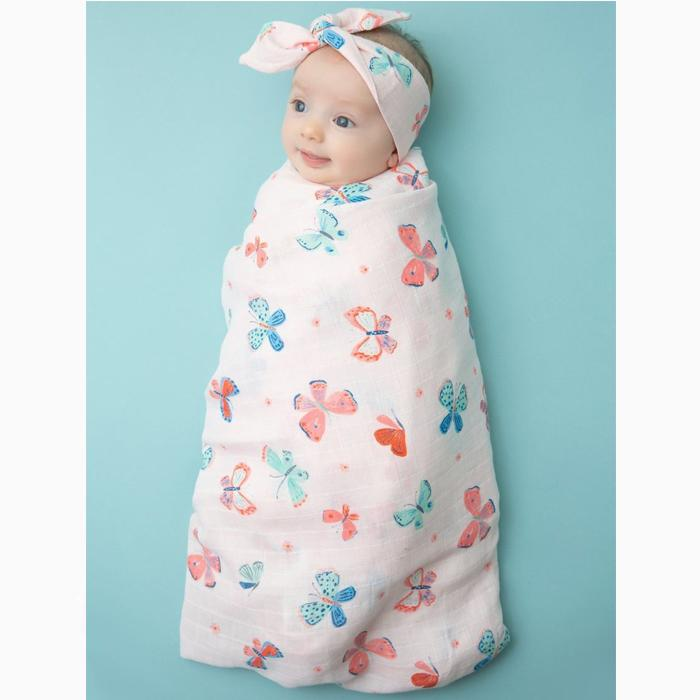 Swaddle Blanket Butterflies - Angel Dear - joannas-cuties