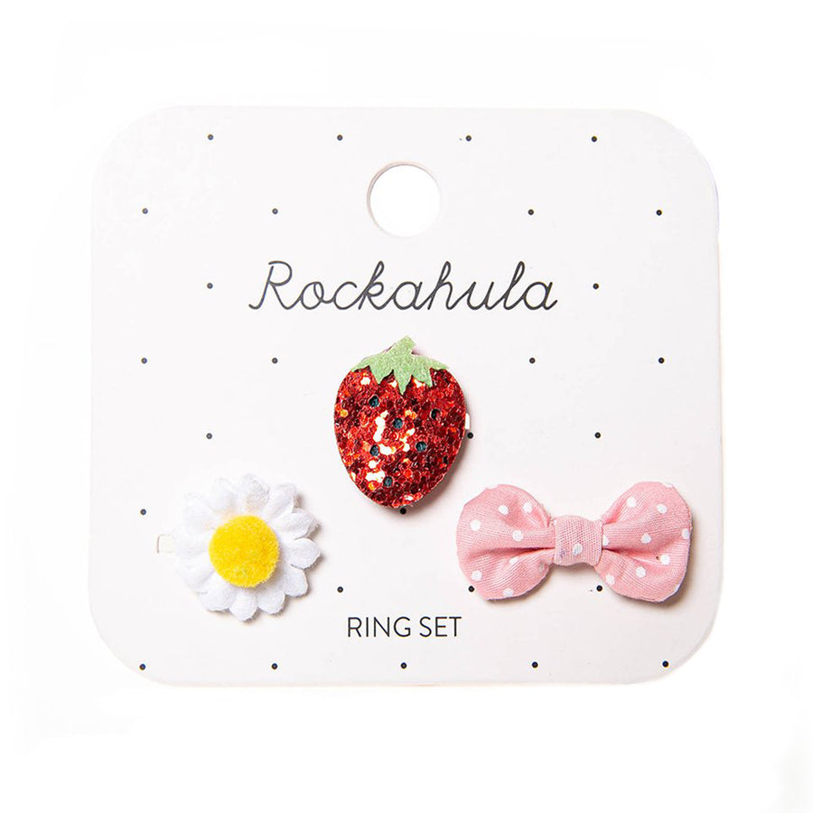 Sweet Strawbery Ring Set-Rockahula Kids-Joanna's Cuties