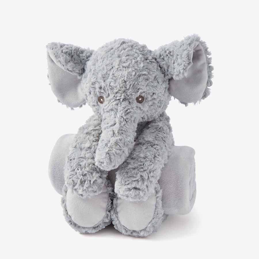 Swirl Elephant Bedtime Huggie Plush Toy With Blanket-Elegant Baby-Joanna's Cuties